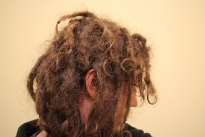 4 month old dreadlocks view from the side